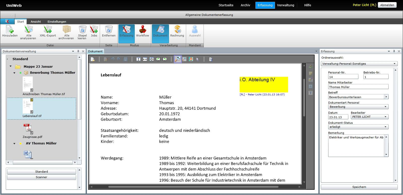 Prozesse optimieren mit UniWeb - BDV Branchen-Daten-Verarbeitung