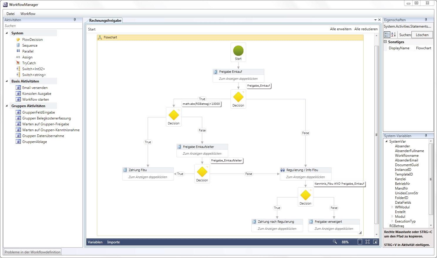 WorkflowServer - BDV Branchen-Daten-Verarbeitung